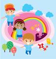 happy student vector image vector image