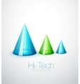 Glass cone background vector image