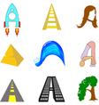 letter A v vector image vector image