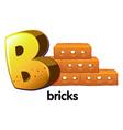 A letter B for bricks vector image