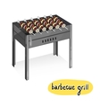 Assorted delicious grilled meat with vegetable vector image