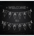 Chalk board Welcome back to school vector image