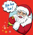 pop santa vector image