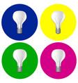 realistic bulbs set vector image