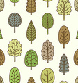 Seamless pattern with hand-drawn trees vector image