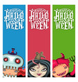 set of halloween banners with children vector image