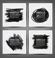 set painted charcoal banners vector image