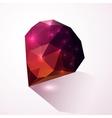 Shining dark pink crystal vector image