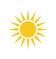 Sun icon Light sign yellow design element vector image