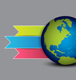 globe and navigation menu design vector image