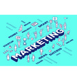 three dimensional word marketing with peo vector image