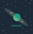 Uranus space view vector image