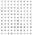 140 web icons vector image