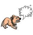 cartoon image of annoyed dog vector image