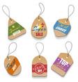 cardboard sale labels vintage price tags vector image