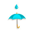 cartoon umbrella with rain drop symbol vector image