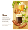 Beer and snacks border vector image