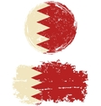 Bahraini round and square grunge flags vector image