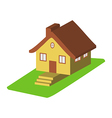 Colorful 3d house cartoon icons isolated vector image
