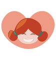 ginger lovely girl vector image