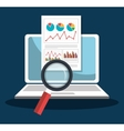 Analitycs search information vector image