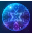 Abstract shining cosmic sphere vector image