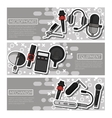 Banners about Different microphones types vector image