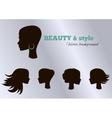 Black girls facial collection set set vector image