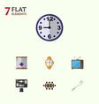 flat icon lifestyle set of boardroom bureau vector image
