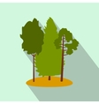 Green forest flat icon vector image