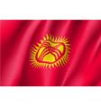 national flag of kyrgyzstan republic vector image