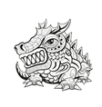 Zentangle tribal dragon designs vector image