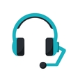Isolated headphone of call center design vector image