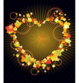 Autumn heart leaves vector image vector image
