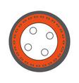 cute button clothes icon vector image
