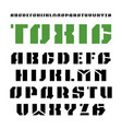 stencil-plate sanserif font in military style vector image