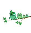 owl family vector image