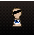 Eye in the keyhole pop art style vector image