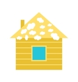 House with Snow vector image