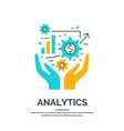 business analytics and vector image