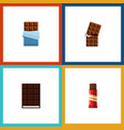 flat icon sweet set of sweet bitter dessert and vector image