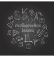 Mathematics Hand Drawn Icons Set vector image