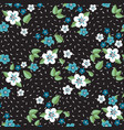 seamless pattern flower vector image