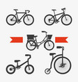 set of the different bicycles sport transport vector image