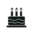 simple black one cake icon on white background vector image