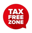 Tax free red speech bubble vector image