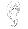 Girl in fashion style vector image
