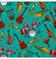 Classical musical instruments seamless pattern vector image vector image