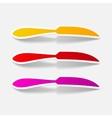 realistic design element knife vector image