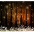 Vintage Christmas wood background vector image